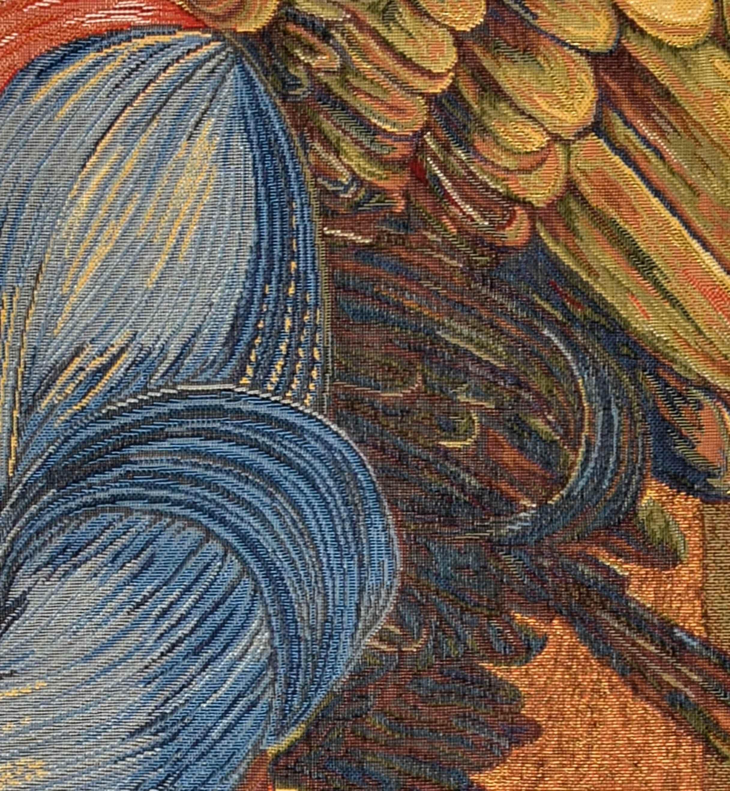 Tapiserie inspirata dupa o pictura de Burn Jones