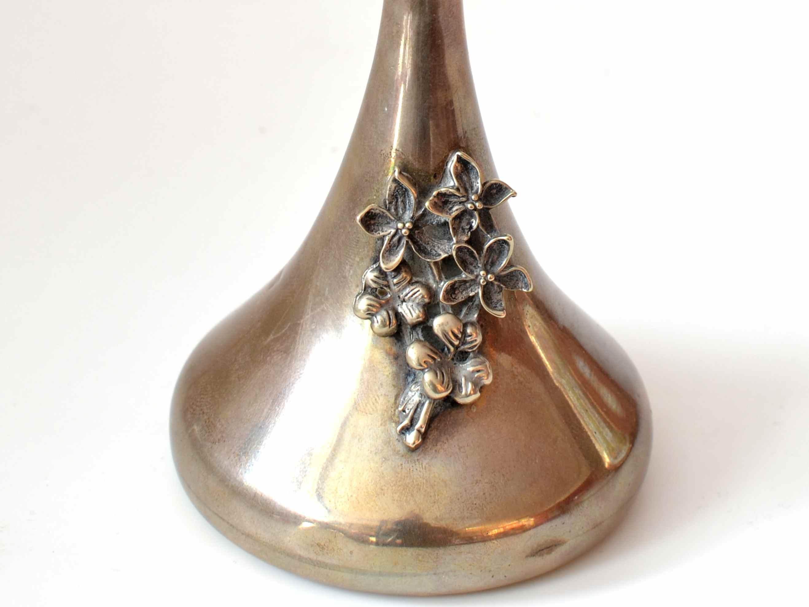 Vaza din argint 925 cu flori aplicate