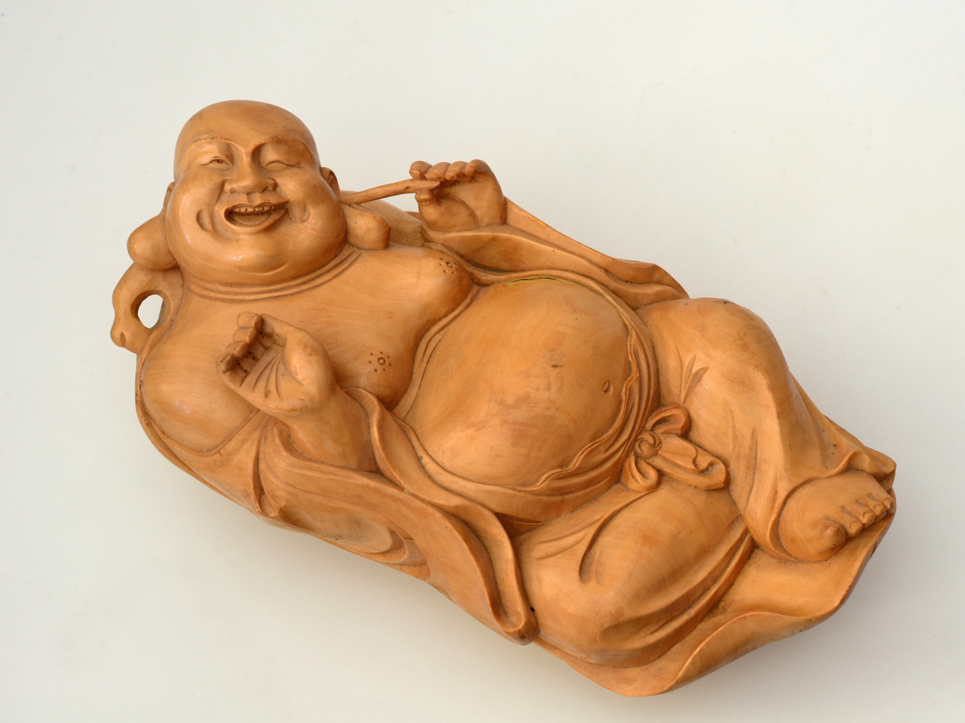 Statueta din lemn Buddha intins