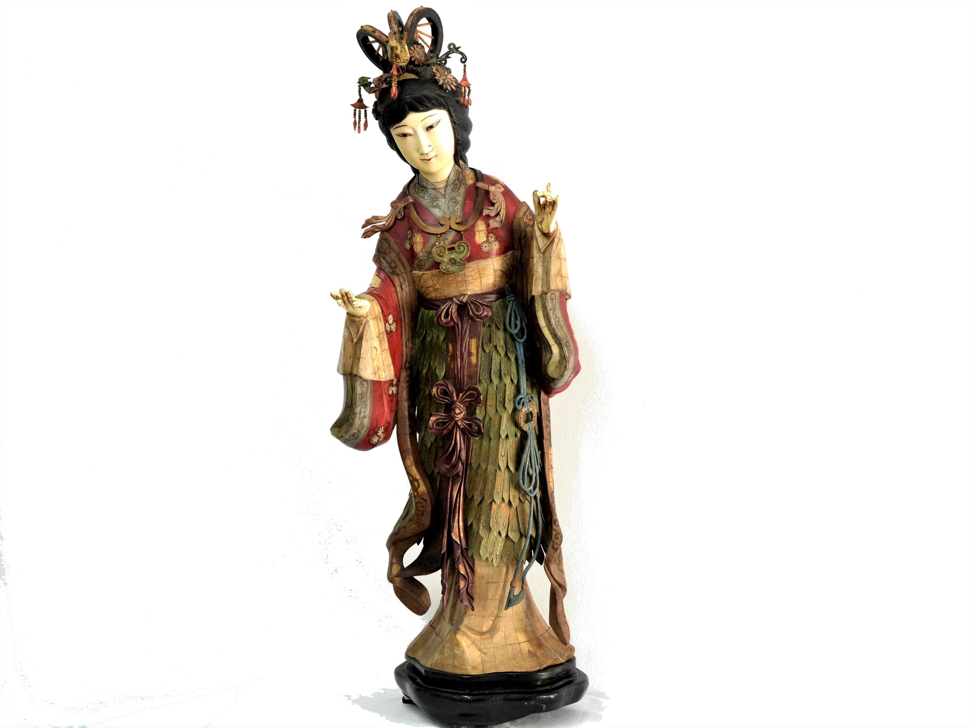 Statuia zeitei lunii Chang'E, China, sfarsitul secolului 19