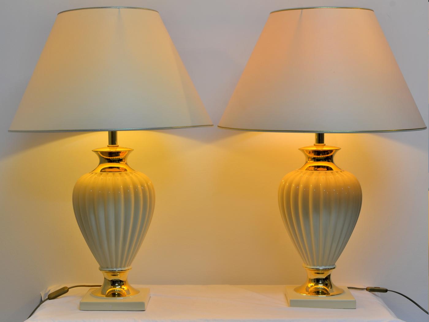 Set lampi portelan, de dimensiune mare