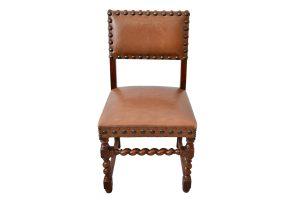 Set 5 scaune renastere spaniola din piele