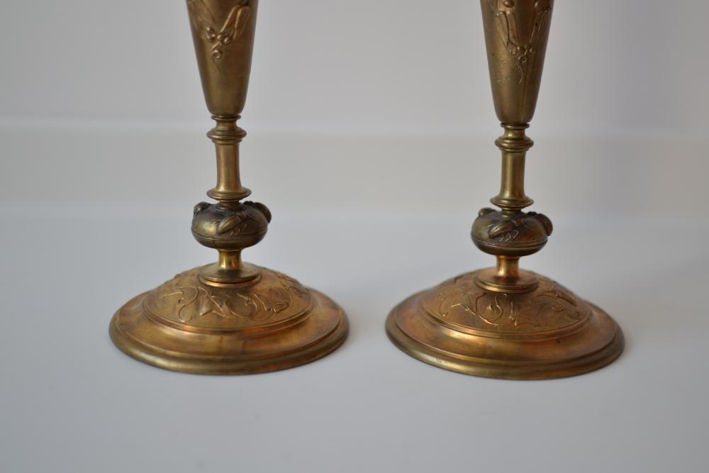 Set doua sfesnice cu model Art Nouveau
