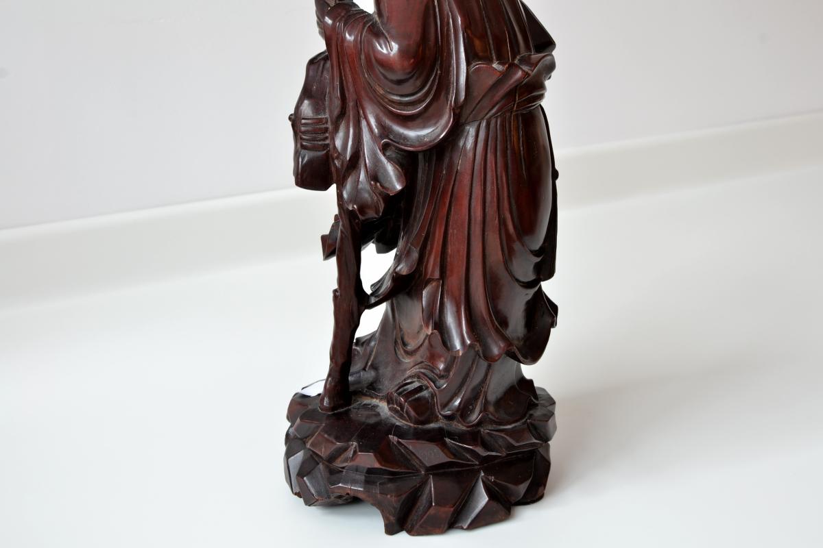 Statueta Inteleptul copiilor din lemn exotic