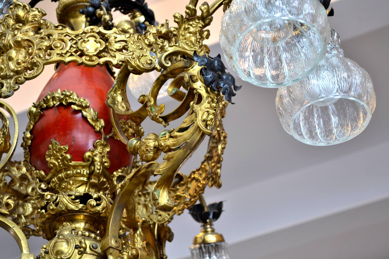 candelabru bronz portelan 3