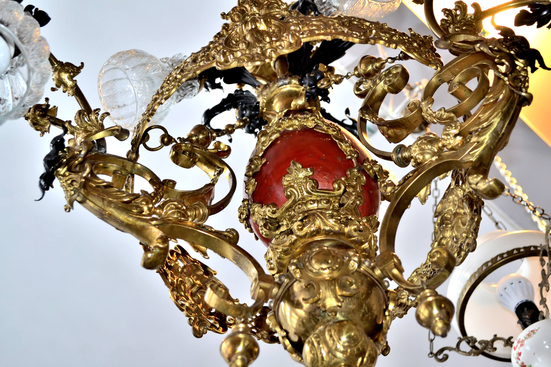 candelabru bronz portelan 4