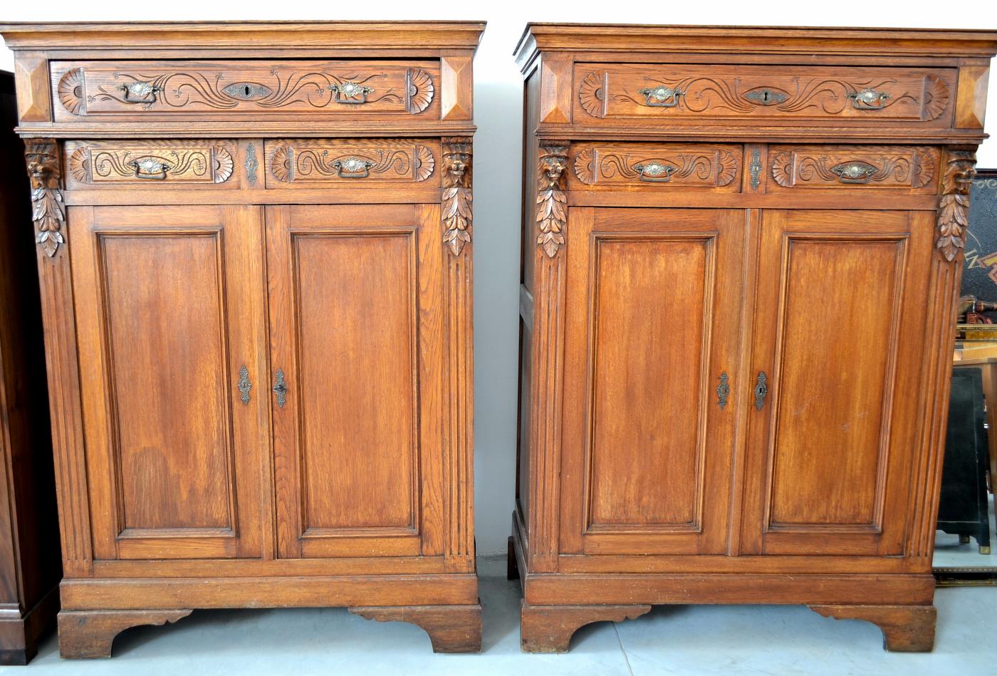 Credent stil Parisienne din lemn de stejar