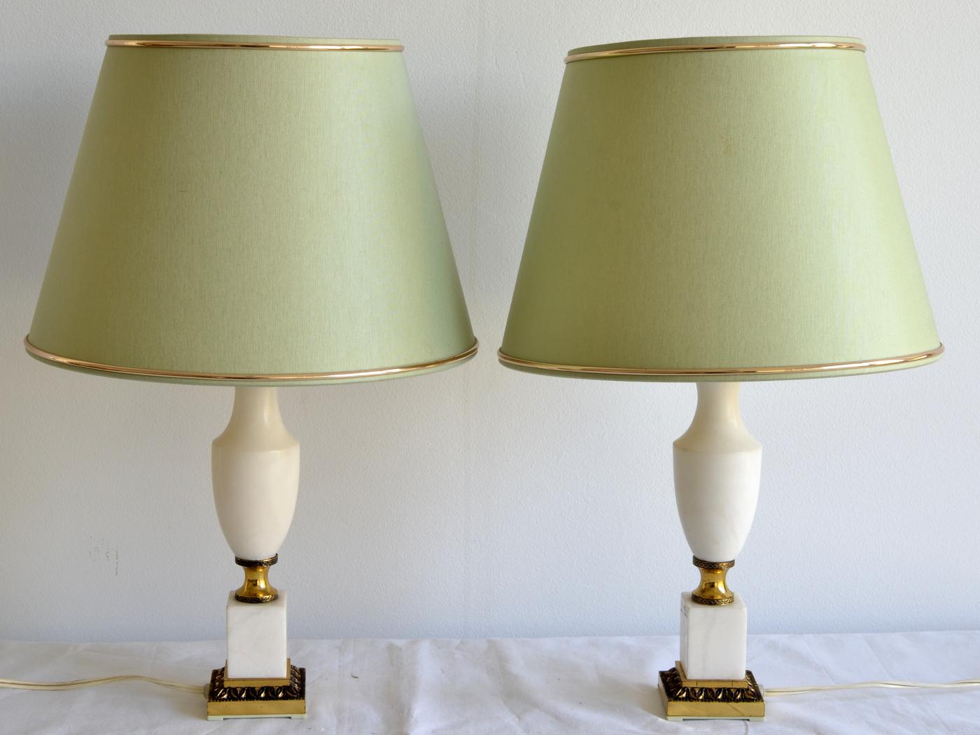 lampa marmura bronz 2