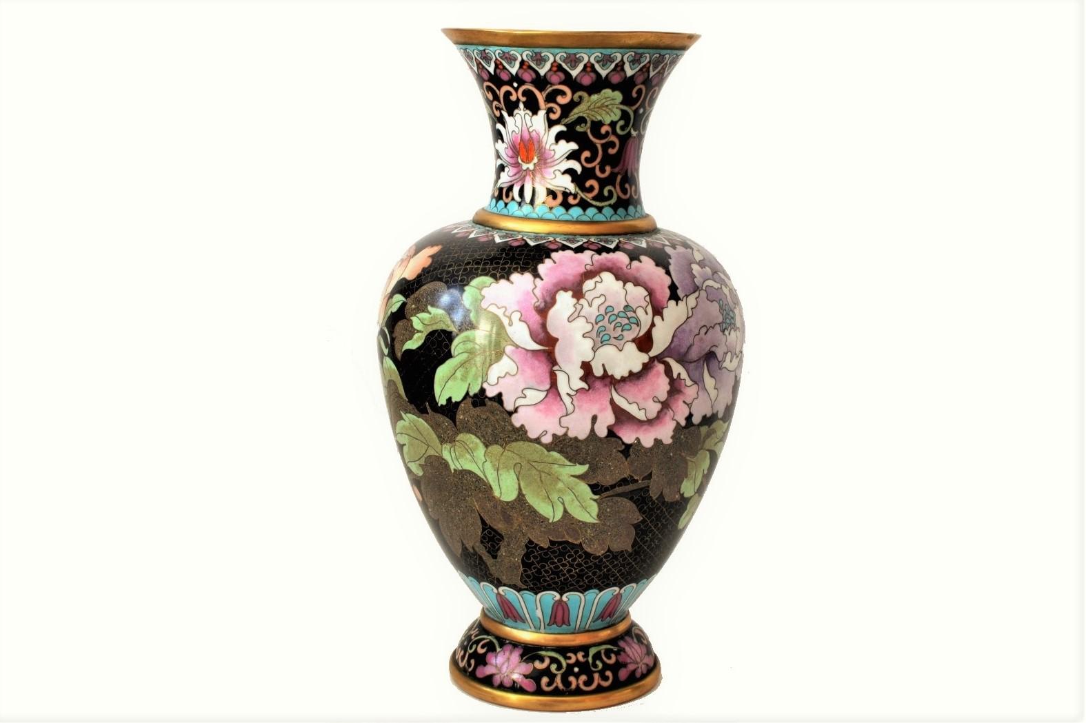 vaza cloisonne bujori 1