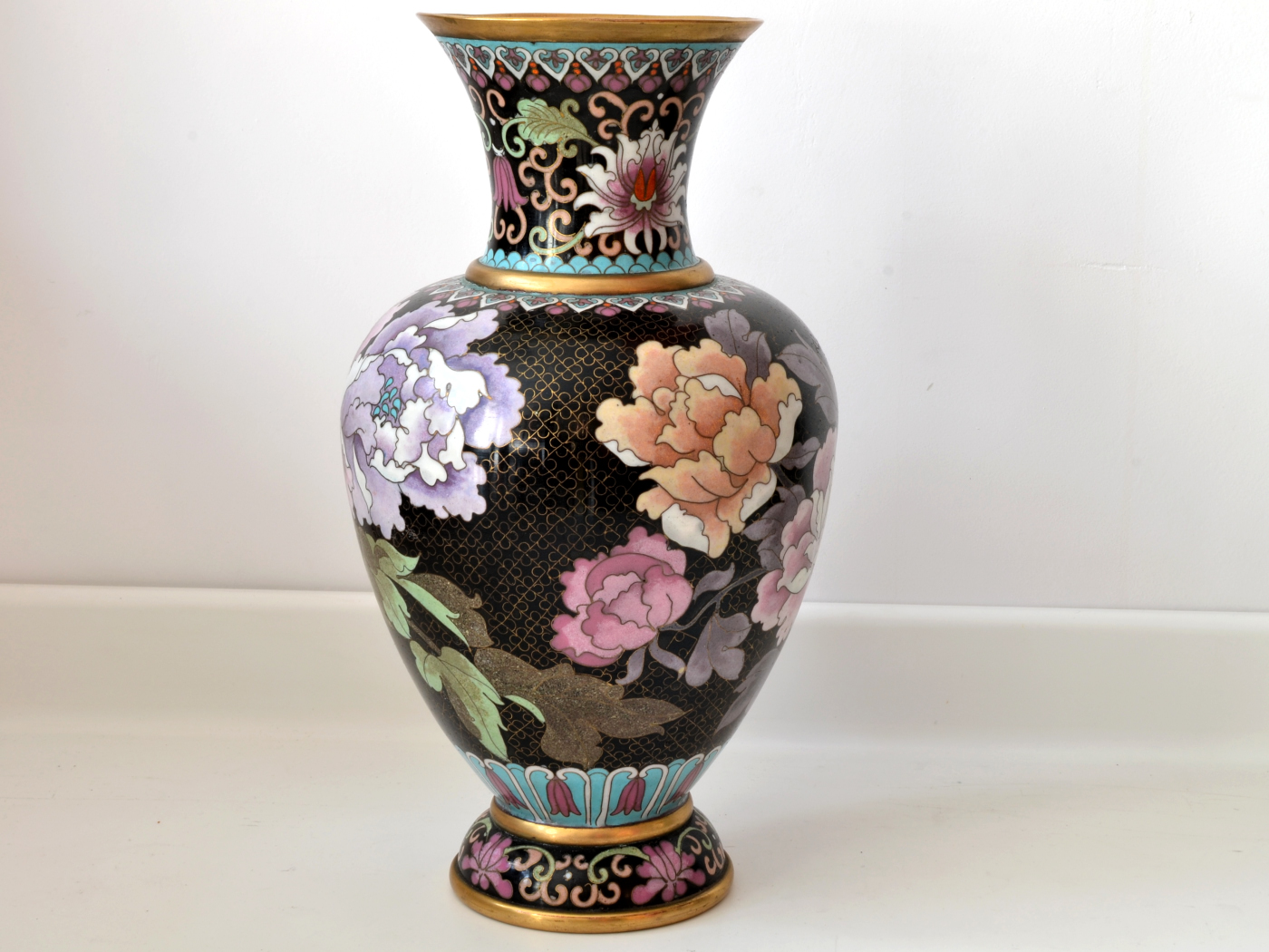 vaza cloisonne bujori 2