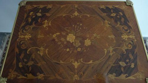 Masa de joc frantuzeasca cu intarsii din lemn de trandafir