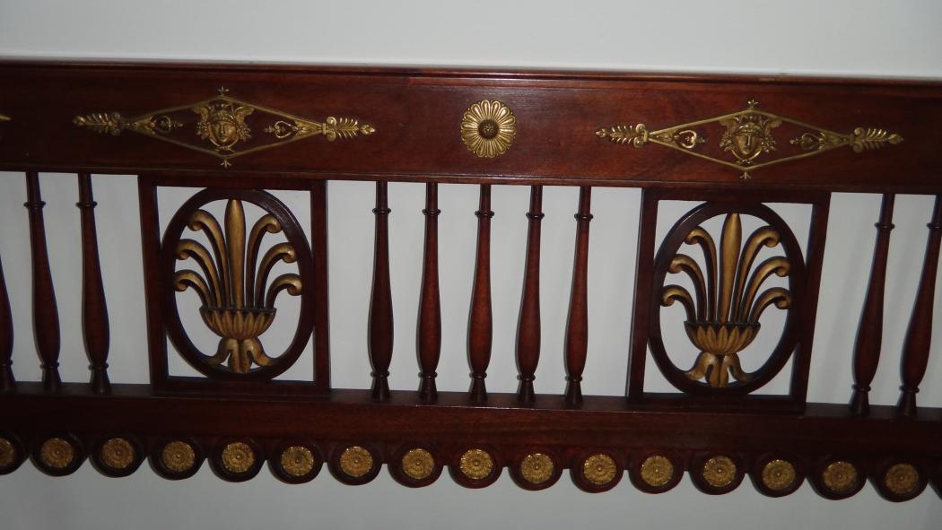 Bancheta lemn stil Napoleon III