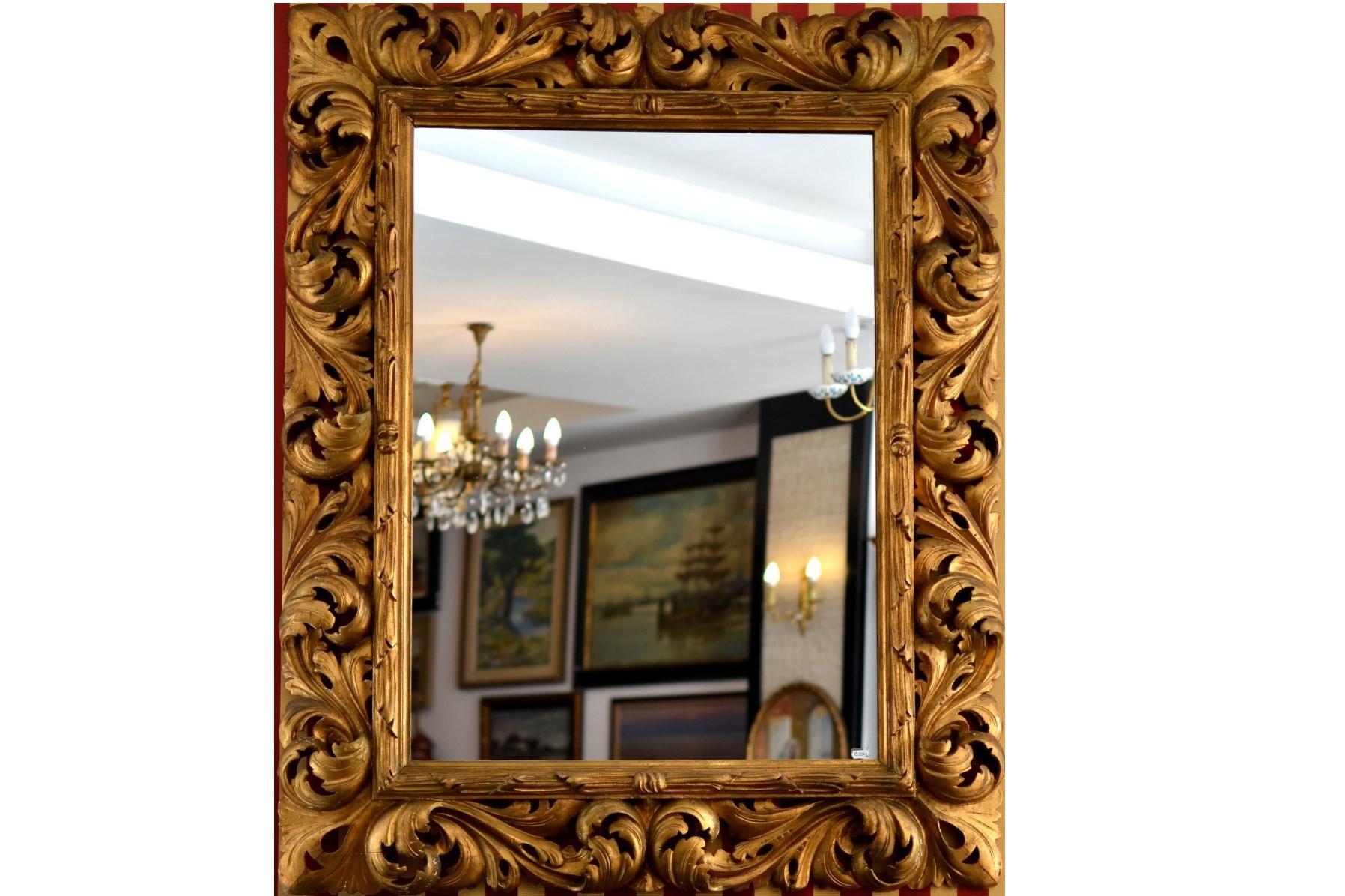Oglinda florentina sec XIX