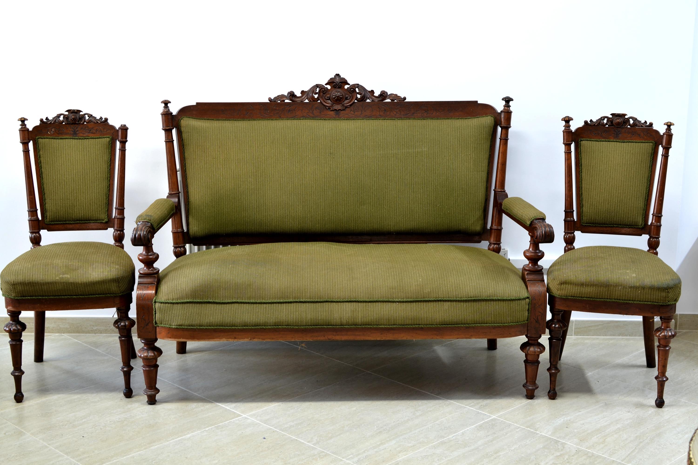 Canapea de 2 locuri cu 2 scaune