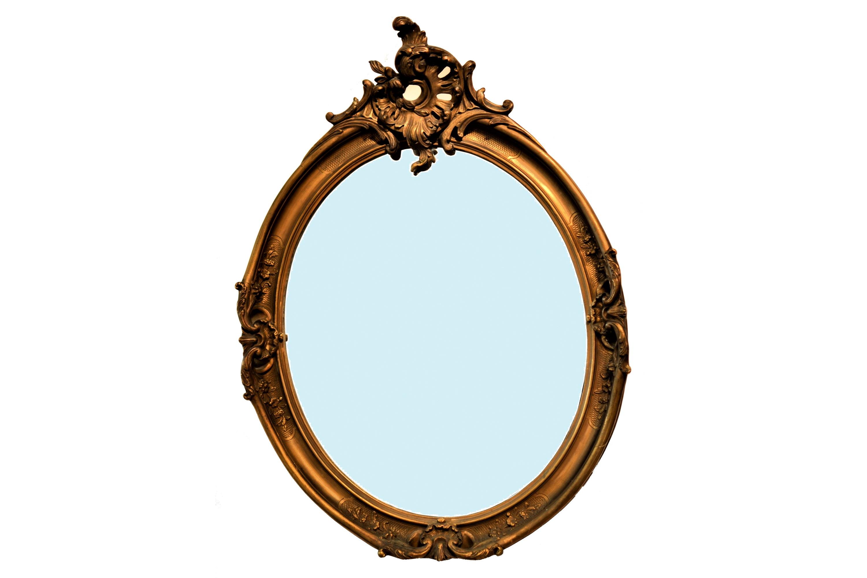 Oglinda Victoriana cu rama din lemn aurit