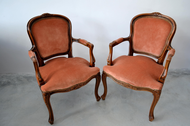 Fotoliu stil Louis XV lea