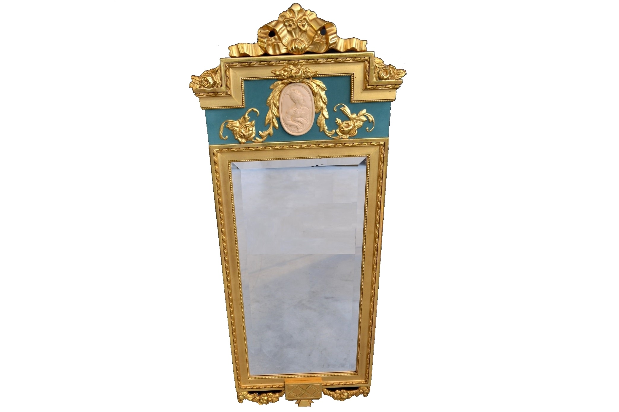 Oglinda stil Louis al XV-lea cu rama din lemn si gips aurit