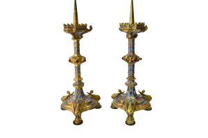 Set doua sfesnice Cloisonne cu cristale