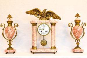 Ceas de semineu din marmura stil Empire