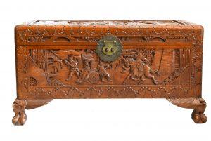 Cufar din lemn masiv exotic