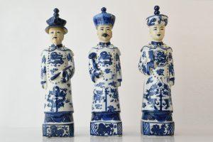 Figurine portelan 3 generatii de imparati Dinastia Quing