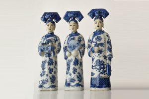 Figurine din portelan 3 generatii de imparatese Dinastia Quing