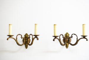 Set 2 aplice din bronz masiv