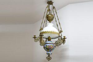 Lampa pe gaz de tavan cu Majolica