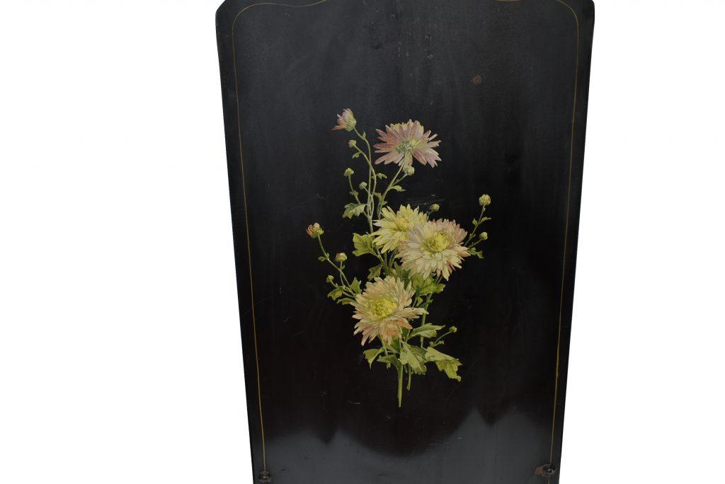 Ecran de semineu metalic pictat manual