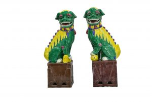Statuete caini Foo din ceramica glazurata