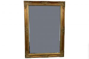 Oglinda din cristal cu rama din lemn