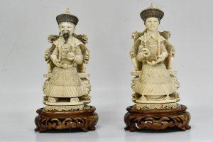 Statuete din fildes imparat cu imparateasa