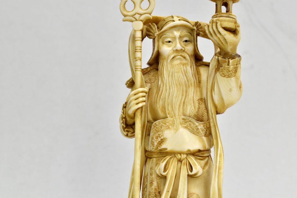 Statueta din fildes, Bishamon zeul războinicilor