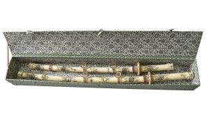 Set de doua sabii japoneze sculptate in os