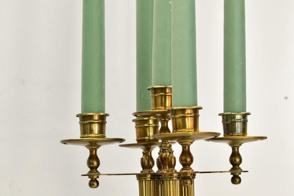 Set doua sfesnice din bronz stil Art Nouveau