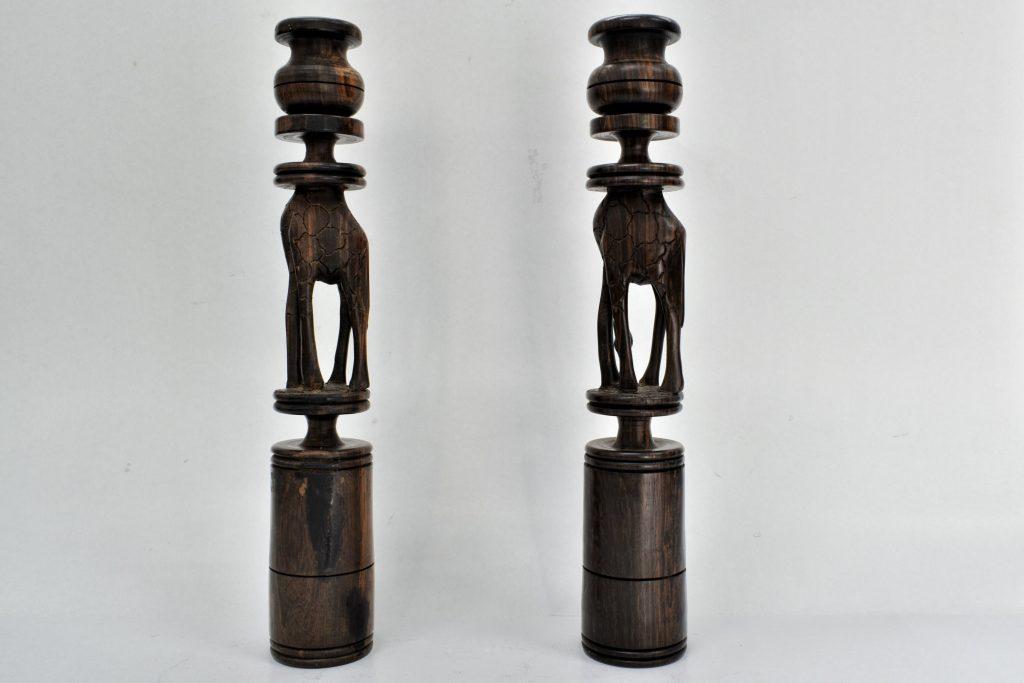 Set 2 sfesnice din lemn exotic