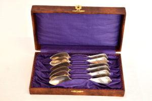 Set 6 lingurite, din argint masiv, englezesti