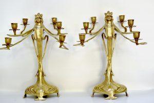 Set doua sfesnice Art Nouveau