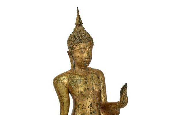 Statuie din bronz ,Buddha mergand dupa iluminare