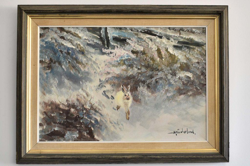 Tablou peisaj de iarna de Bert Olov Österlund (1912-1981)