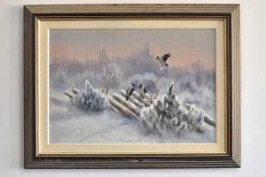 Tablou peisaj de iarna de Henning HOUGAARD (1922-1995)