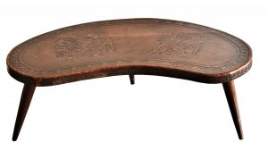 Masuta din lemn si piele de Cordoba
