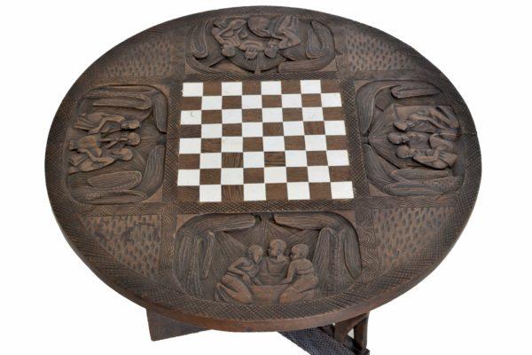 Masuta pentru sah din lemn masiv de mahon