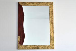 Oglinda cu rama bicolora