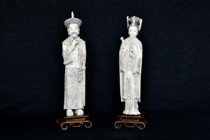 Statuete din fildes imparat si imparateasa
