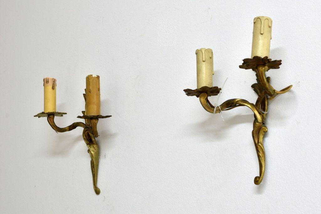 Set 2 aplice din bronz aurit