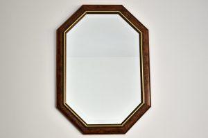 Oglinda rama furnir nuc si cristal