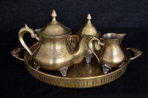 Set cafea din bronz