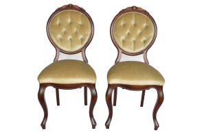 Set 2 scaune Louis al XVI lea