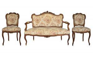 Set canapea si 2 scaune Louis al 16 lea